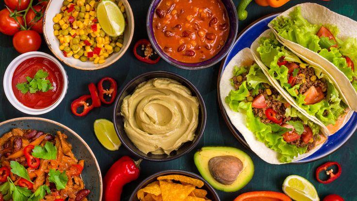 Cocina tex-mex típica en América del Norte