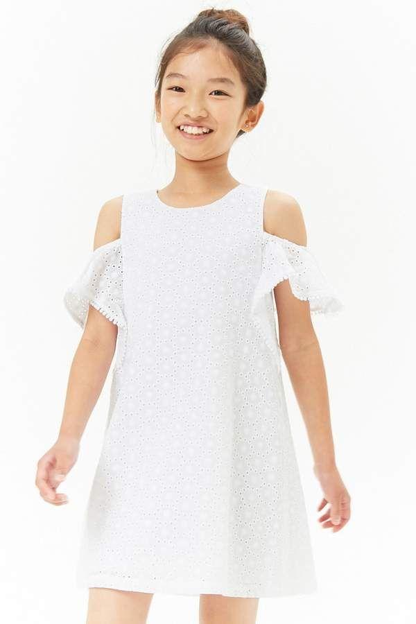 6d259285297ca Girls Eyelet Open-Shoulder Dress (Kids) #thick#shoulder#featuring ...