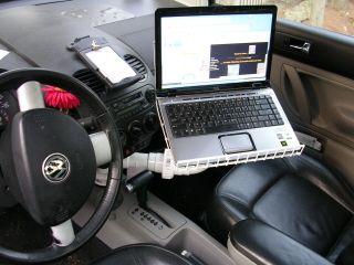 DIY In-Car Laptop Desk