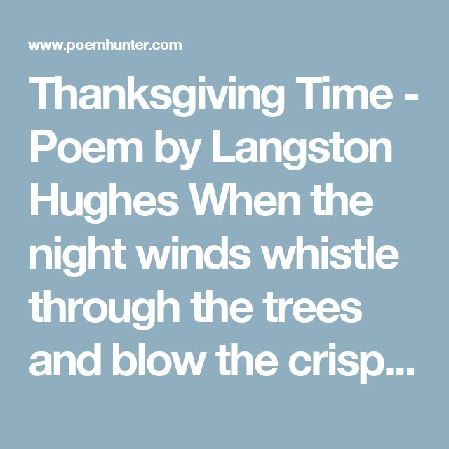 Literary analysis of early autumn by langston hughes
