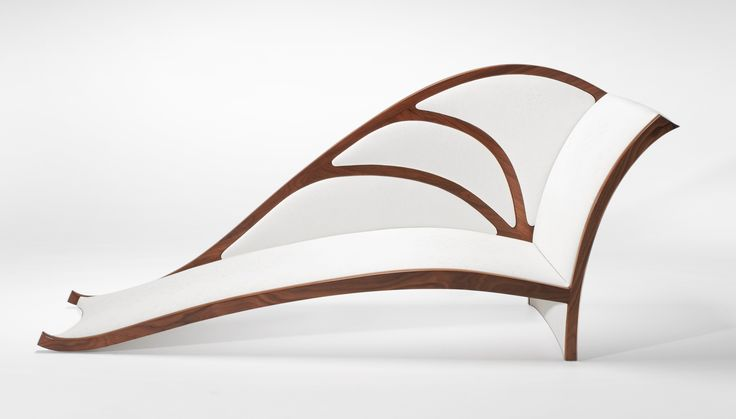 """Stunning design and craftsmanship by Award Winning Australian Furniture Master Craftsman, Will Marx. Handmade from Walnut, the """"Ulysses"""" Chaise Lounge was inspired by the delicate feminine form of the native """"Ulysses"""" butterfly. To see more images or more examples of Will's beautiful work, visit www.willmarx.com.au"""