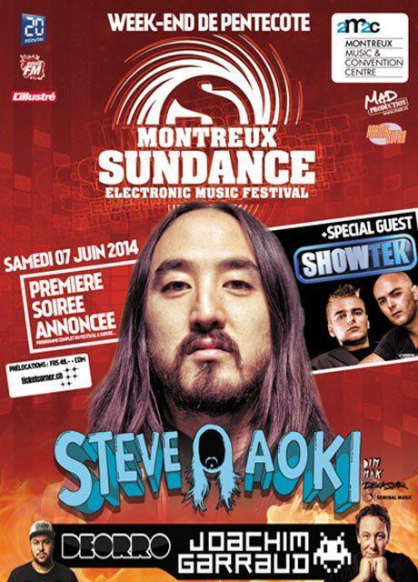 Das Montreux Sundance Festival 2014 mit Superstar DJ Steve Aoki und Joachim Garraud uvm. Tickets jetzt bei Ticketcorner: http://www.ticketcorner.ch/montreux-sundance-tickets.html?affiliate=PTT&doc=artistPages/tickets&fun=artist&action=tickets&kuid=454526