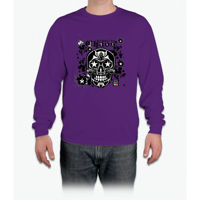 Addicted To Chaos Movie T Shirt Bee Movie Long Sleeve T-Shirt