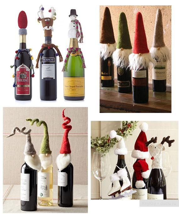 Украшение бутылок своими руками к празднику - идеи для рукоделия