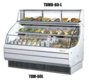 """TOMD40LB 39"""" Non Refrigerated Top Case for Open Display Merchandiser: Low Profile Black"""