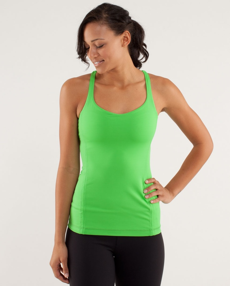 This lightweight tank lets us get sweaty without over-heating.