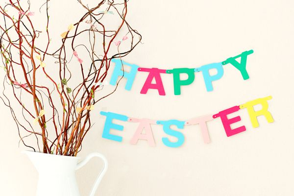 Easter bow tree with directions