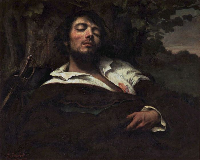 Gustave Courbet, WOUNDED MAN, colore ad olio, 81.5 cm × 97.5 cm, Musee d'Orsay, Paris