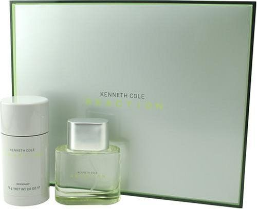Kenneth Cole Reaction By Kenneth Cole For Men. Set-edt Spray 1.7 Ounces & Deodorant Stick 2.5 Ounces by Kenneth Cole. Save 42 Off!. $34.99. Packaging for this product may vary from that shown in the image above. This item is not for sale in Catalina Island. Launched by the design house of Kenneth Cole in 2004, KENNETH COLE REACTION by Kenneth Cole is classified as a fragrance. This masculine scent posesses a blend of: musk, grapefruit, patchouli, mandarin, melon rind, green apple, and…