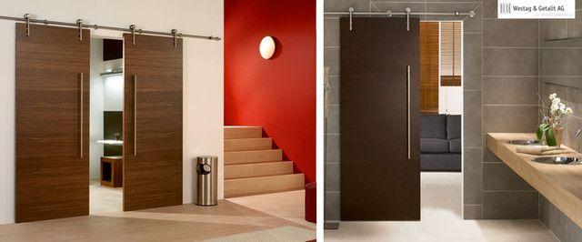 modern stainless steel sliding door hardware for wood door modern interior doors