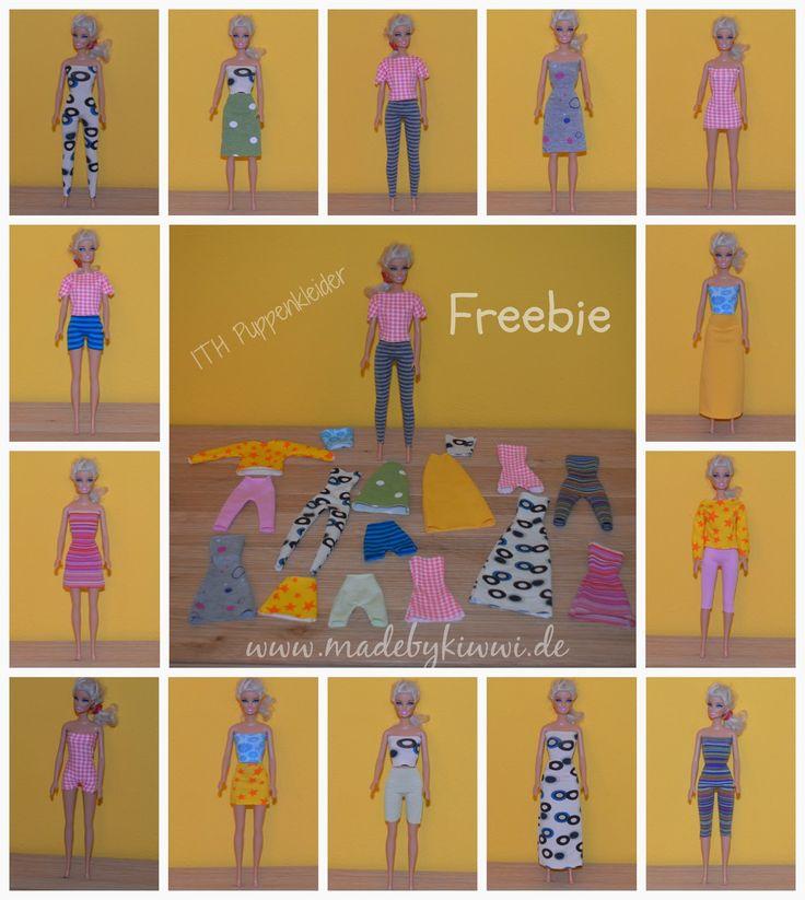 Barbiepuppen-Kleidung ITH von MadebyKiwwi