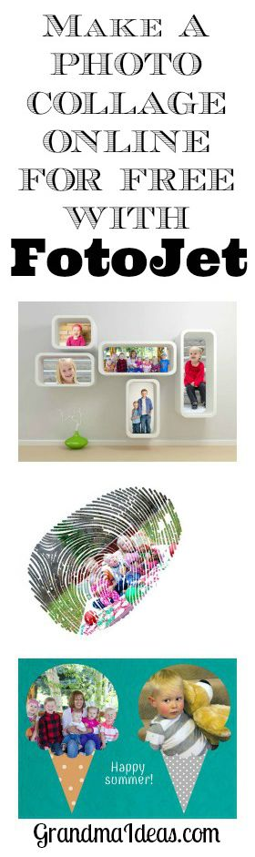 Make a photo collage in a matter of minutes with the free online program FotoJet.com.