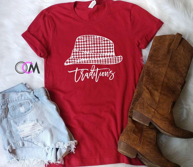 Tradition Football Shirt, Hounds tooth Shirt, Football Shirt, College Football Shirt, Game Day Shirts, Alabama Shirt, Bama Shirt by 1OneCraftyMomma on Etsy