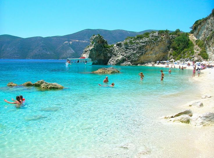 AGIOFILI BEACH DI VASILLIKI Greek beach #Greece