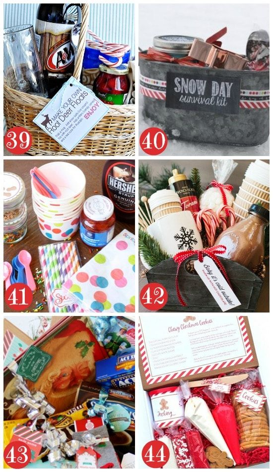 Christmas Gift Basket Ideas For Families Crafts Ideas Pinterest