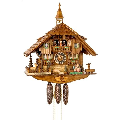 Black Forest Kissing Couple Cuckoo Clock