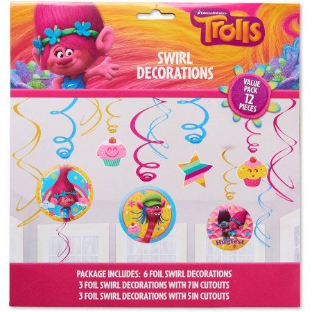 Trolls Hanging Party Decorations, Party Supplies