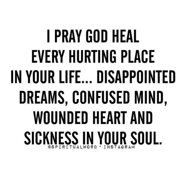 I pray for you more than I pray for myself! Love u !