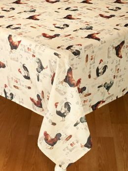 No Iron Rooster Tablecloth At The Vermont Country Store