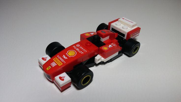 Ferrari F138 - Formula 1 car model from Lego bricks.