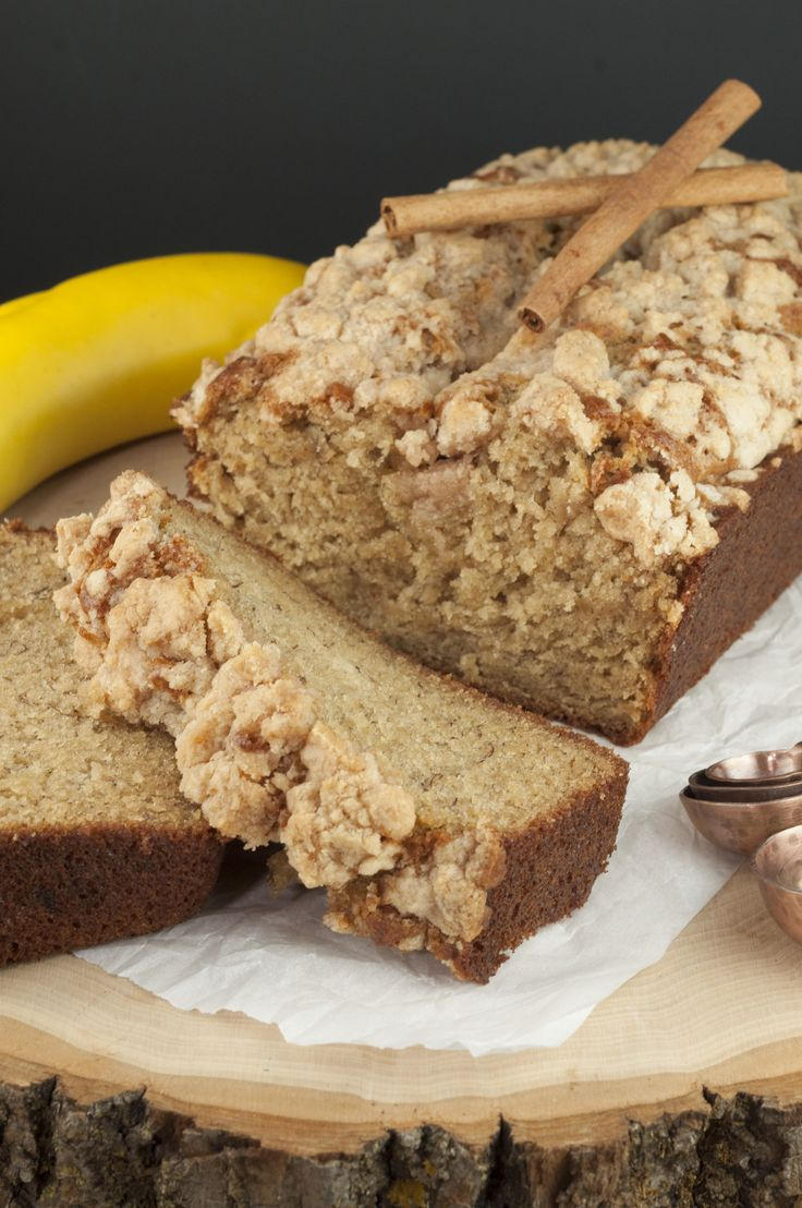 Flavorful Cinnamon Crumb Banana Bread is a quick bread recipe with swirls of buttery cinnamon sugar throughout. It