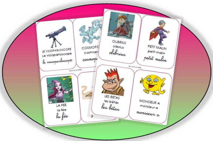 Imagiers sur les personnages des alphas _ Pépinette a l'école
