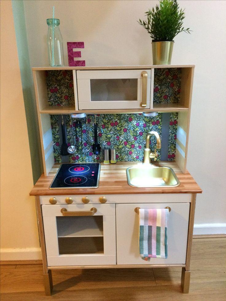 Ikea Duktig play kitchen hack goldielookingkitchen