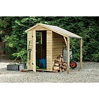 Overlap Shed with Lean To - 6x4ft