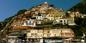 Cliff hanging houses in Positano, Campania, Italy
