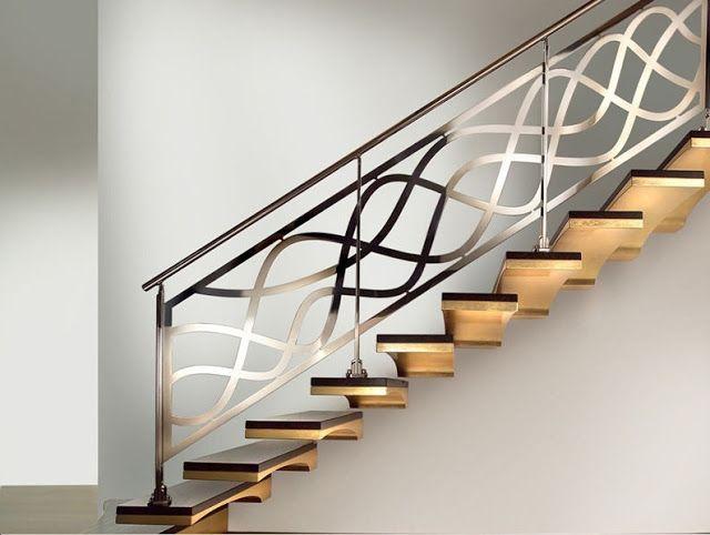 stainless steel staircase railings, interior stair railing ...