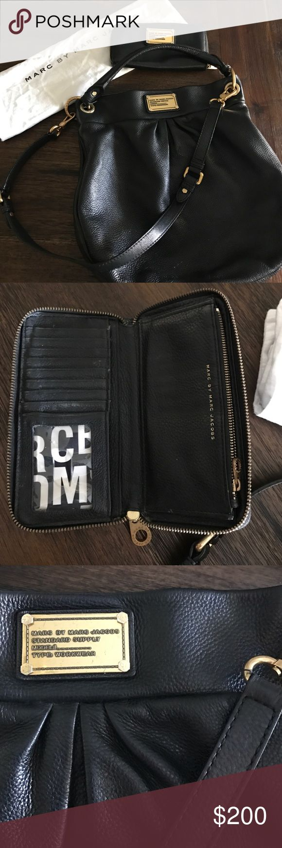 Marc Jacobs Hobo Purse with Wallet Marc Jacobs Hobo Purse with matching Wallet. In good pre owned condition. Comes with dust bag. Minor white blemish on bottom of bag. Marc by Marc Jacobs Bags Hobos