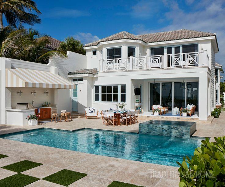 cool pools traditional home - Hinterhof Mit Pooldesignideen