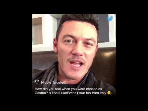 Luke Evans answers fan questions during a live Twitter Q&A(Feb.14,2017) - YouTube