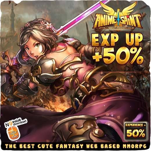 Hello ProGamers!! Anime Saint sedang mengadakan event EXP UP 50%!!!Kesempatan bagi kalian para pejuang Sanctuary! Segera Login dan mainkan Anime Saint - Best WebBased Anime MMORPG FREE to PLAY!! More Info : http://saint.prodigy.co.id/ #prodigyinfinitech #games #online   #anime #saint  #MMORPG #war #warrior  #assassin #magician #indonesia