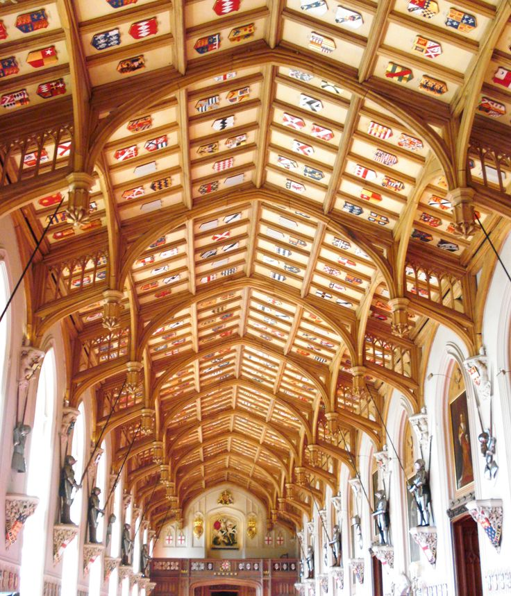 Ceiling of St Georges Hall, Windsor Castle - by Swamibu