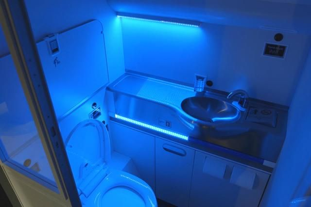 Boeing develops far UV self-cleaning airplane bathroom...Boeing's Clean Lavatory is a finalist for a Crystal Cabin Award, to be announced at the Hamburg Aircraft Interiors Expo
