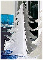 White Fur Tree will add a touch of magic to any winter wonderland scene. Each cardboard White Fur Tree prop has a reflective iridescent shin...