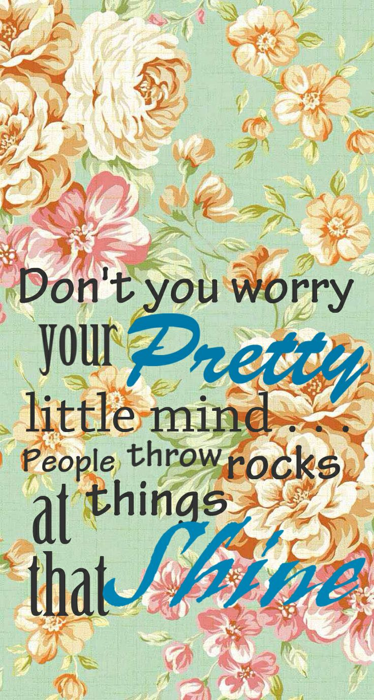 Iphone wallpaper tumblr retro - Don T You Worry Your Pretty Little Mind People Throw Rocks At Things That