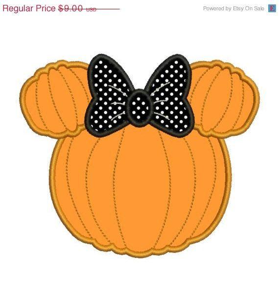 SALE 33 OFF Applique Minnie Mouse Pumpkin by embroiderydesignsavi, $6.03