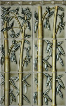 Bamboo Relief Tile - asian - bathroom tile - portland - Pratt and Larson  Ceramics