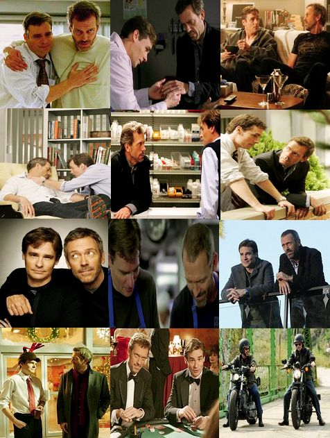 House and Wilson. Best bromance award goes to....<< It's no bromance, it's just Wilson being a good friend