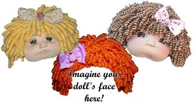 How to make curly doll hair using acrylic yarn.
