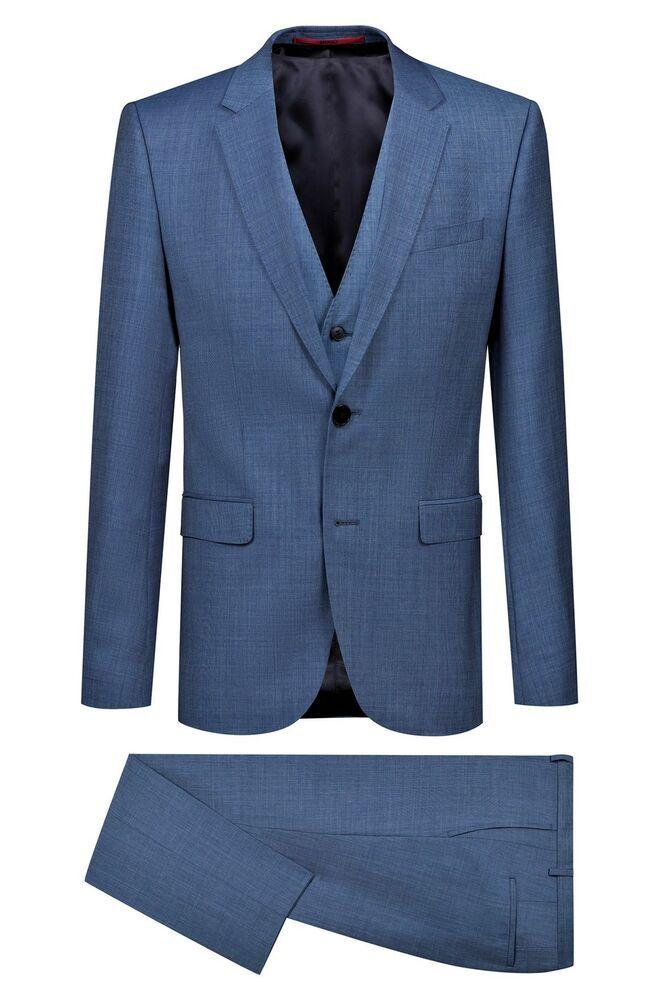 247553ae eBay #Sponsored Hugo Boss Suit with Vest Extra Slim Fit Model  Astian/Hets184v1 - 50405359