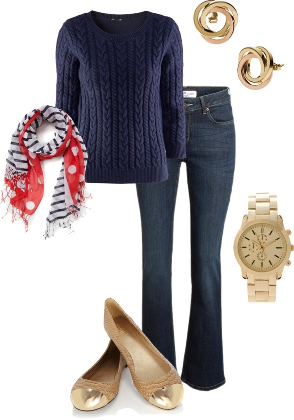 """""""casual fall day #polkadot"""" by lildill26 on Polyvore"""