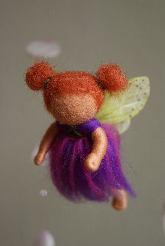 Little Fairies Spring Mobile  felted waldorf von naturechild, $76,00