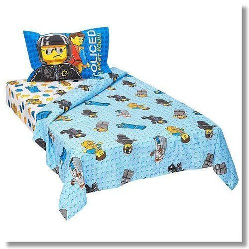 lego movie 3piece twin sheet set frenzy - Really Cool Bedding