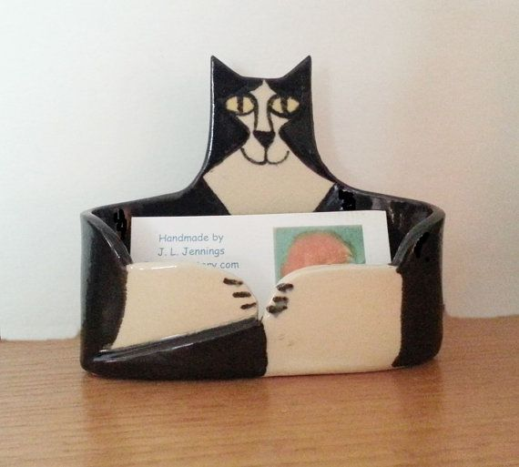 72 best cat in the office images on pinterest cat stuff cats and handmade by artist cat lover business card holder by firecat reheart Images