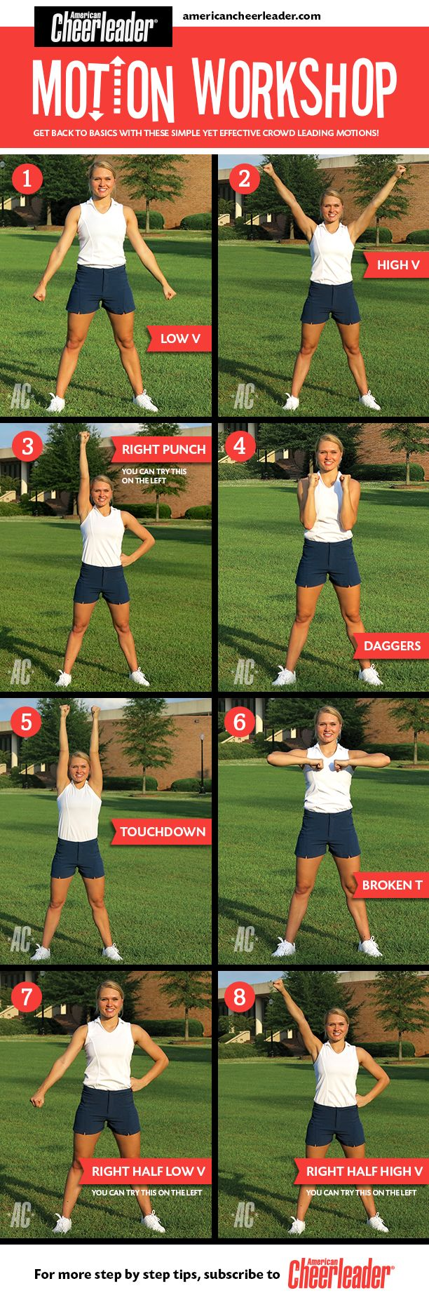 One of the best ways to lead the crowd is with super sharp motions. Make sure yours are on point this season.