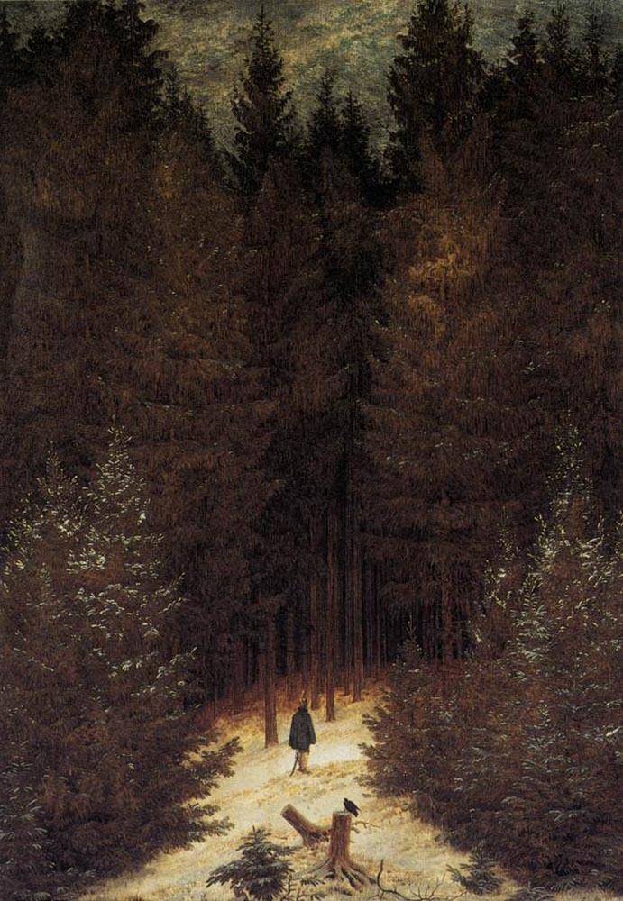 Caspar David Friedrich - The Chasseaur In The Forest