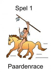 * Indianen spellen: Paardenrace! 1-7